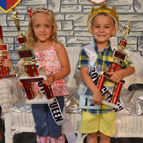 Hope Scott, daughter of Andy and Lisa Scott, Leesburg, and Hayden Castro, son of Jenna Wireman, Etna Green, are the North Webster 2014 Mermaid Festival Cutie King and Queen