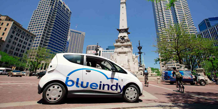 BlueIndy Electric Car Share Service