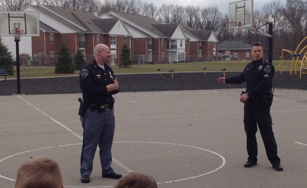 Warsaw Police Chief Scott Whitaker and another Warsaw Officer answered questions about the K-9 unit
