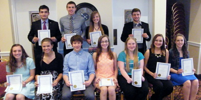 All A honor roll pictured in front from left: Kate Gardner, Hannah Jennings, Alexander Eib, Delilah Hochstedler, Lisa Otto, Kezia Scherer-Berry Back row from left: Bruno DeSouza, Andrew Chupp, Brooklyn Bitting, Nathaniel Spangle. (not pictured bryce swihart)