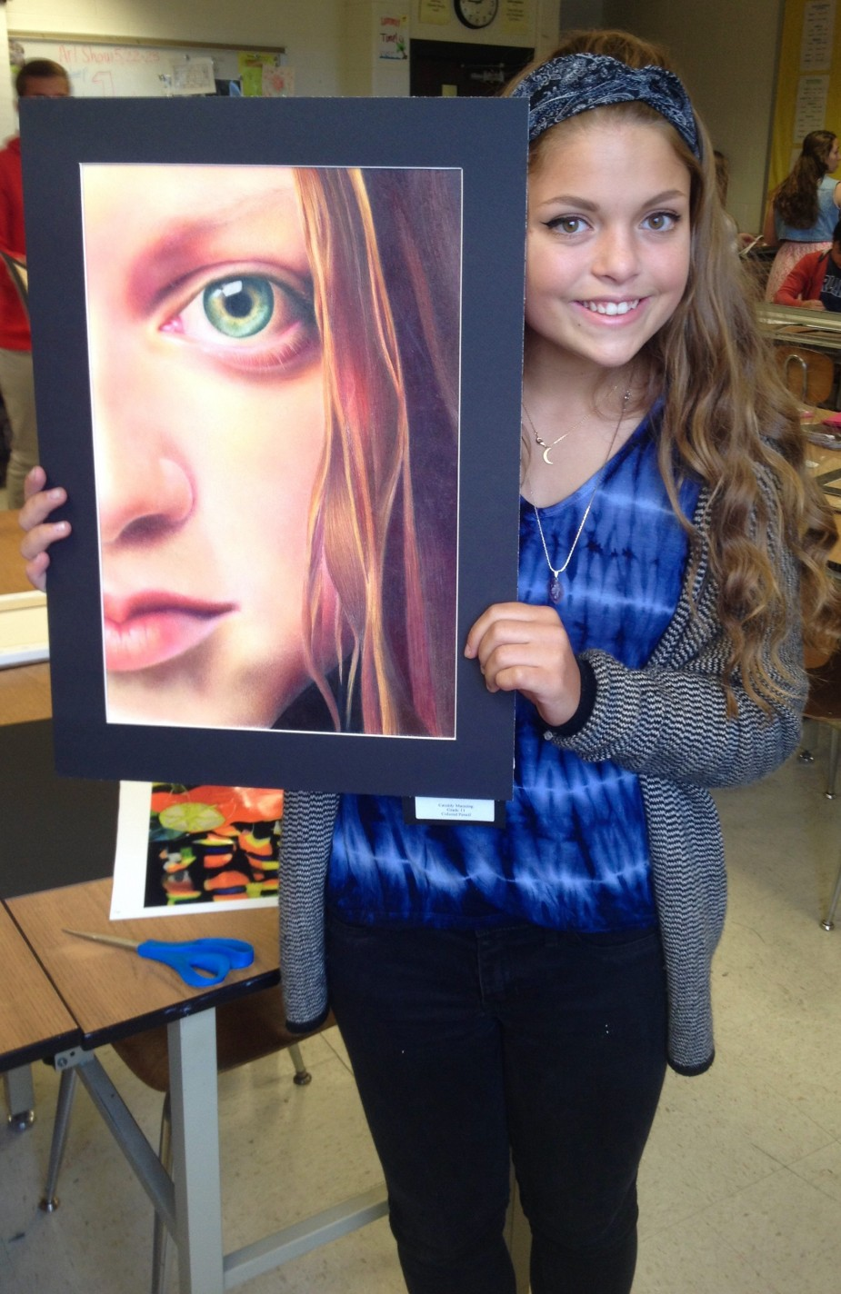 Cassidy Manning with her Best of Show winning drawing.