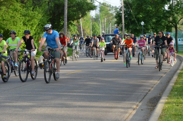 The event was followed by the community ride in honor of the annual Fat and Skinny Tire Festival in Winona Lake and Warsaw.