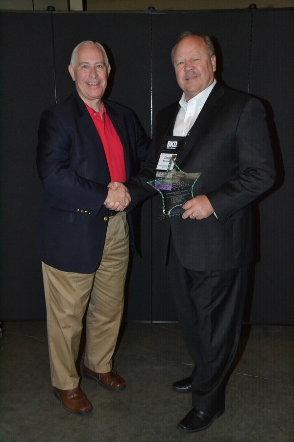Greg receiving IBA 5 star award 5-2015
