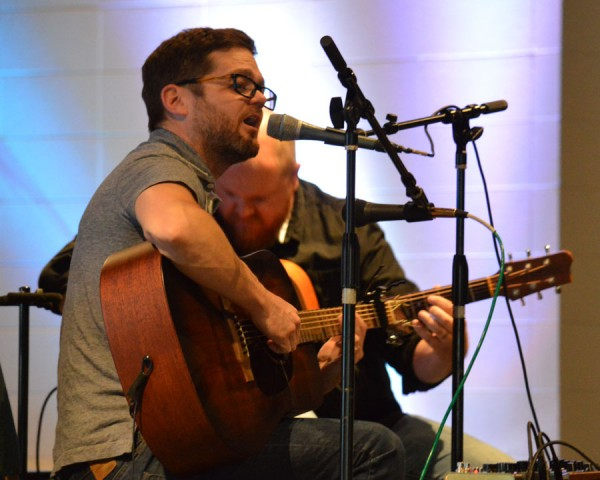 Josh Kauffman entertains the crowd this evening.  (Photo by Lauren Zeugner)