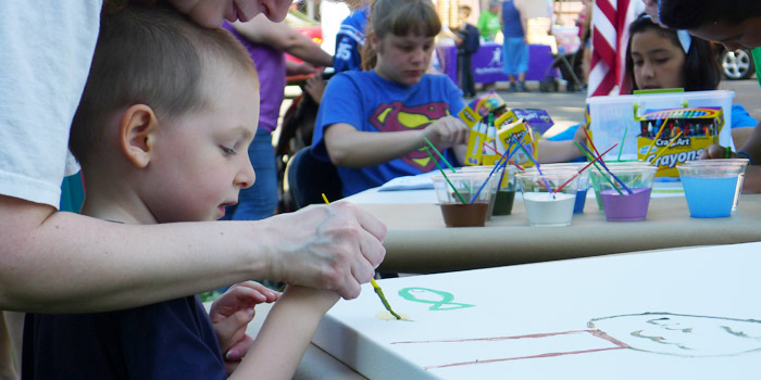 Lakes Festival attendees of all ages are welcome to contribute to a community canvas painting that will be hung in the Kosciusko County Community Foundation building.