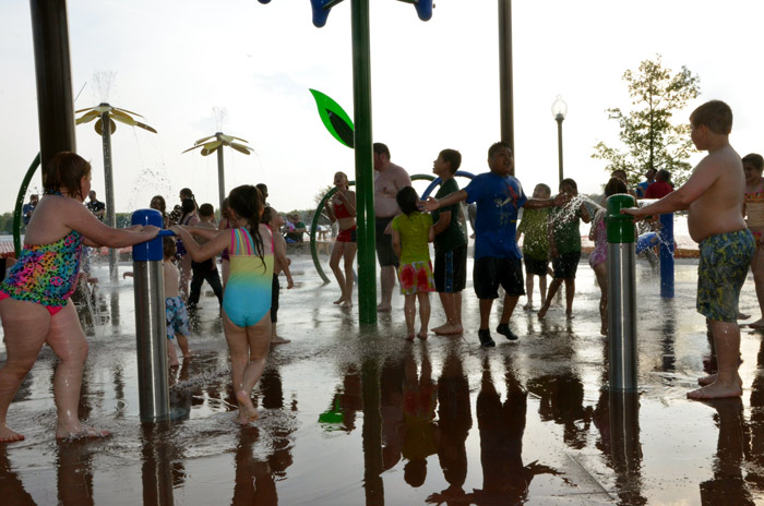 The long awaited Winona Lake K21 Splash Pad turned its waters on to invite the public in to play on Friday, May 15.