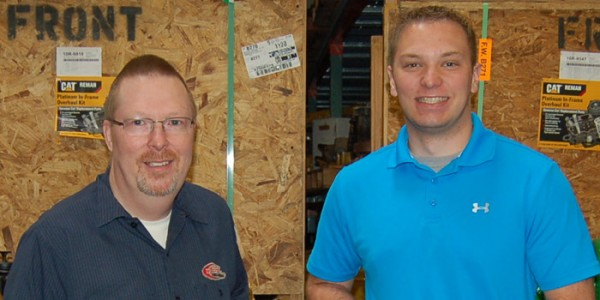 Pictured from left, Mark Wolfe, DP&M Parts Mgr., Dickerhoff