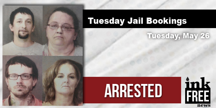 Tuesday jail bookings