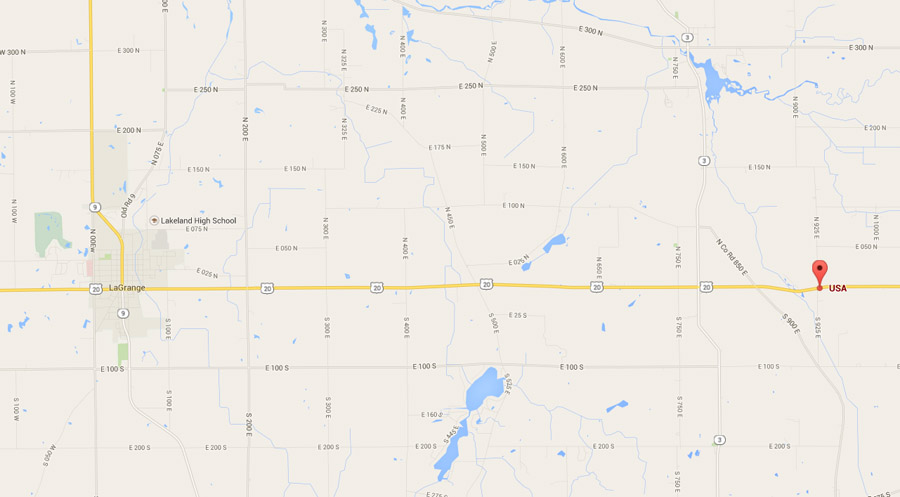 Large Sinkhole Discovered On US In LaGrange County - Sinkhole map of us