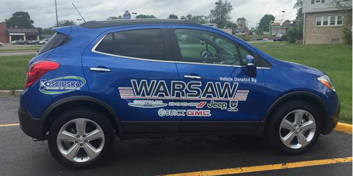 "The new ""chamber vehicle"" provided by Warsaw Buick GMC in Warsaw."