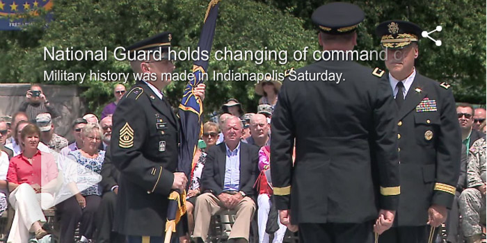 Indiana National Guard command change
