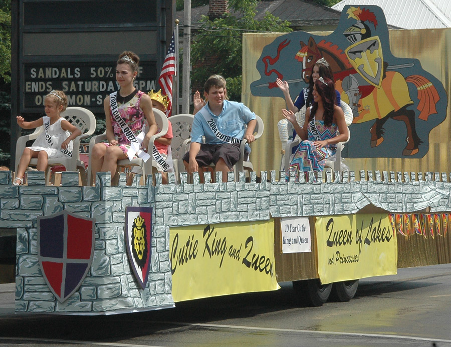 One of the highlights during the annual Mermaid Festival in North Webster is the parade, held at 4 p.m. the last day of the festivities. Among parade entries are a float with current royalty and royalty from 10 years ago.  (File Photo)