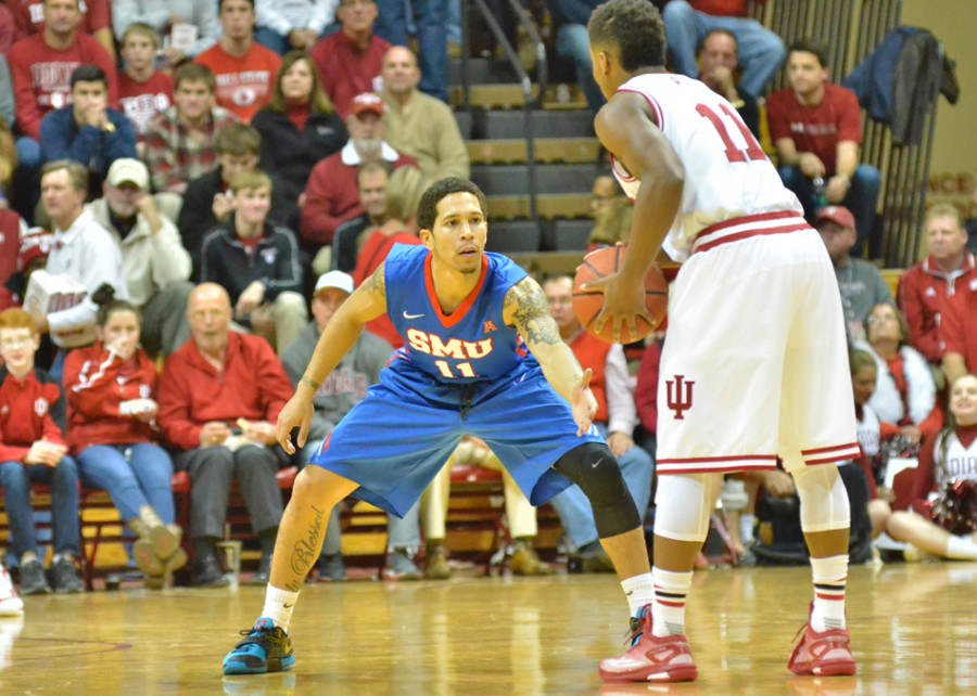 Former Warsaw star guard and current SMU player Nic Moore will play with the Kansas men's basketball team in the upcoming World University Games in South Korea (File photo by Nick Goralczyk)