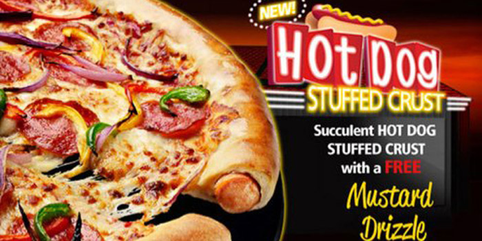 Pizza Hut hot dog stuffed crust