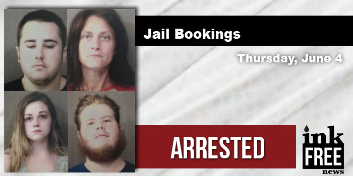 jail bookings thursday