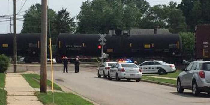 South Bend train vs pedestrian
