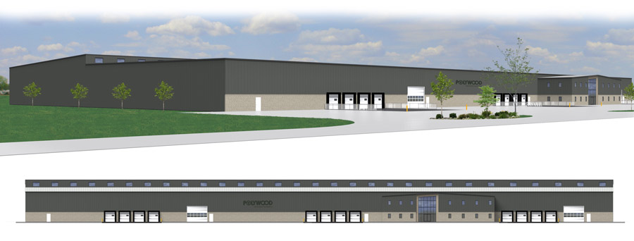 A rendering of Poly-Wood's new facility in Syracuse