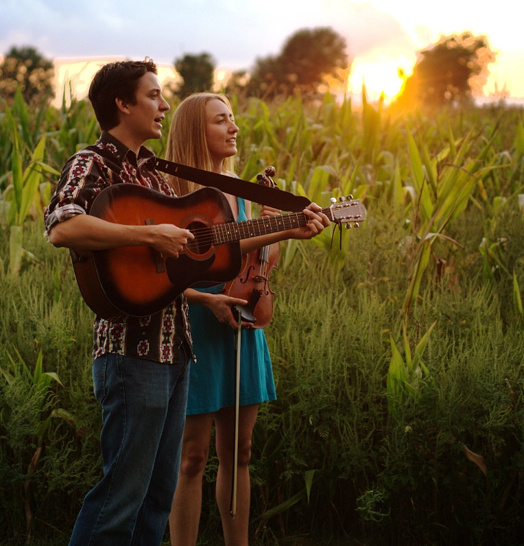 "Warsaw native Andrew Morris, front left, and Julie Bates will perform a free, all-ages concert 7 p.m., Friday, Aug. 28, in the Garage at the Wildwood Nature Preserve branch of the ACRES Land Trust, 409 E. SR 14, Silver Lake. This will be the only Kosciusko County performance of the songs from their album ""Kosciusko County"" until December. ""Just bring a lawn chair, a cooler and a good attitude,"" recommended Morris."