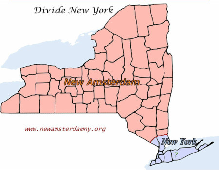 A plan for the secession of New York, as found on newamsterdamny.org.