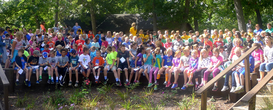 Over 900 students from 39 classrooms in Kosciusko County attended the Center for Lakes & Streams' annual Field Day.