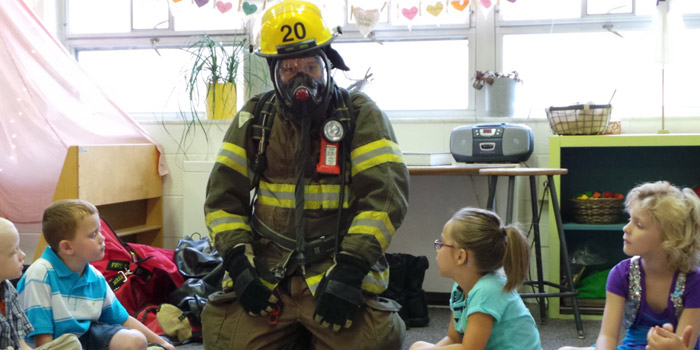 Pictured is Firefighter