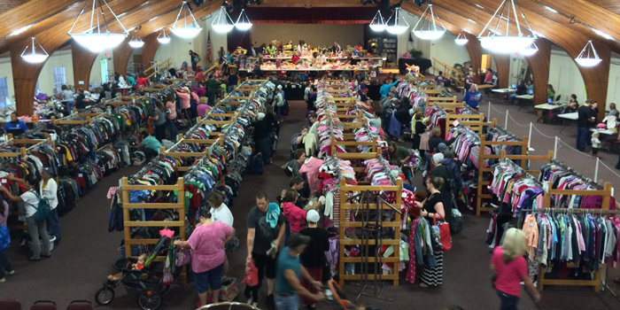 Over 40,000 items were donated the Kids Market over the last three days.