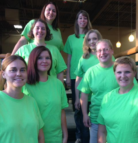 Pictured in front from left are Laurie Victa and Allison McSherry. In the second row are Ruth Banghart and Michele McCrum. In the third row are Kris Stitcher and Angela Hidlebaugh. In back are April Nelson and Rebecca Monsma. Not pictured are Joye Andrews, Hailey Barger and Kari Zielasko. (Photo provided)