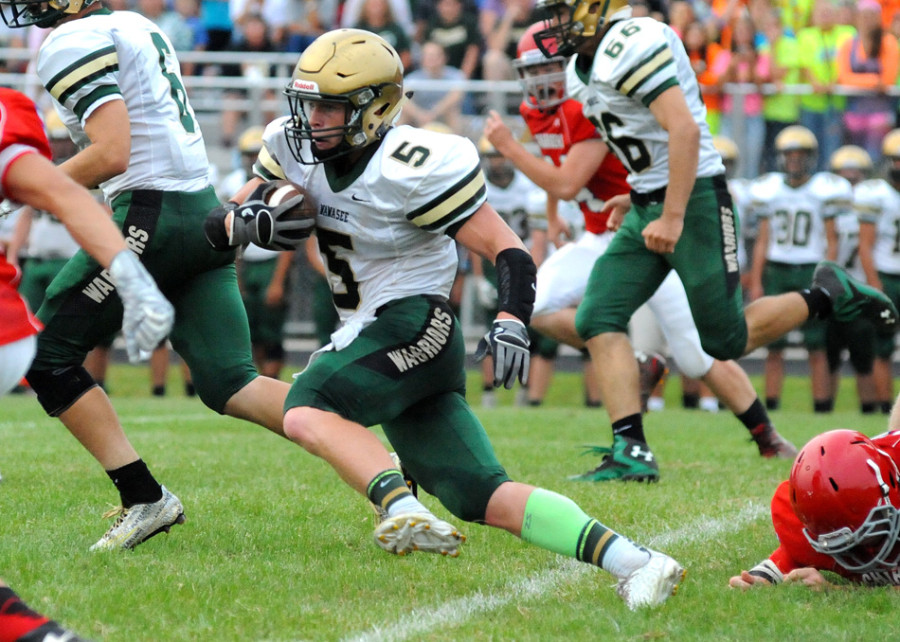 Zac McKee will look to help Wawasee get a win at Northridge Friday night in a clash of unbeatens in the NLC opener (File photo by Mike Deak)