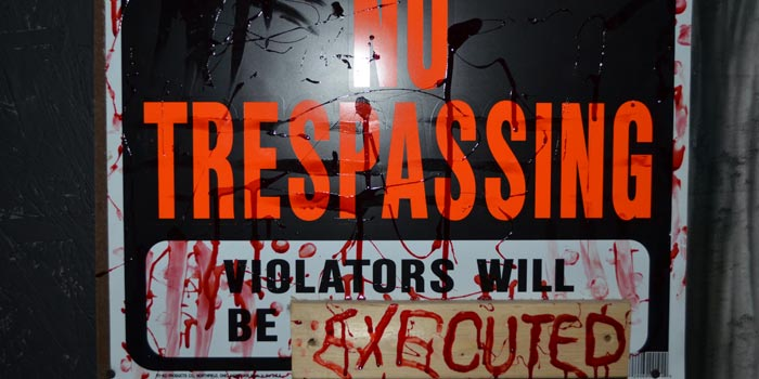 A dire warning greets guests when they first enter the haunted house.