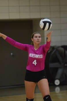 Sydney Wysong had an outstanding match for NorthWood.