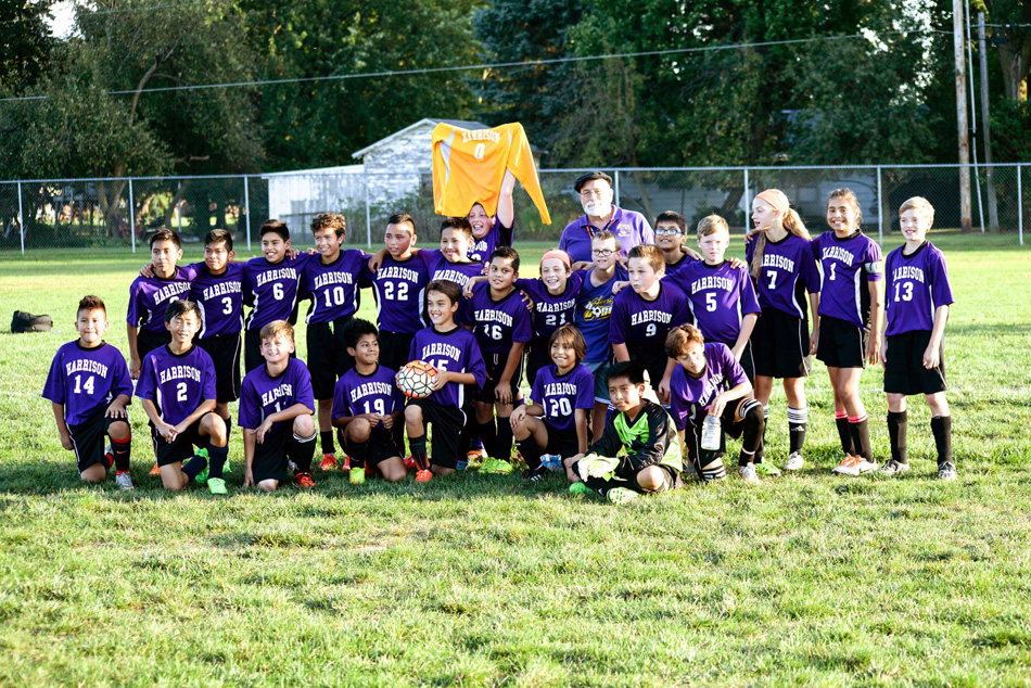 The Harrison Elementary School soccer team won the Warsaw area championship. (Photo provided)