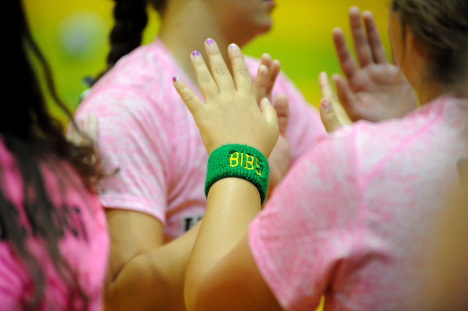 Tippecanoe Valley wore wristbands with BIBS on them in honor of fallen friend Scott Bibler, who was laid to rest Sunday.