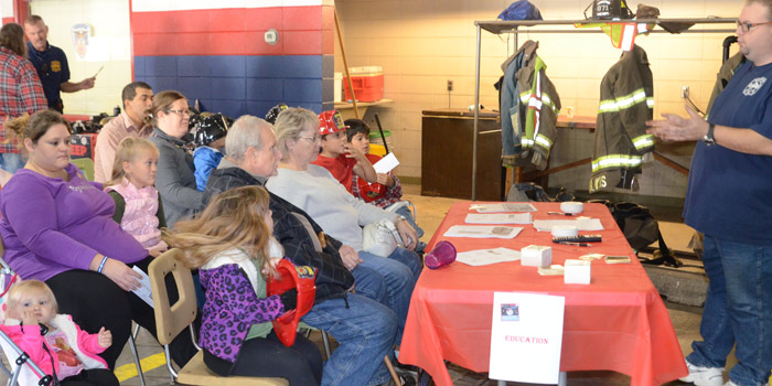 Regardless of age, the education station provides valuable information about fire safety.