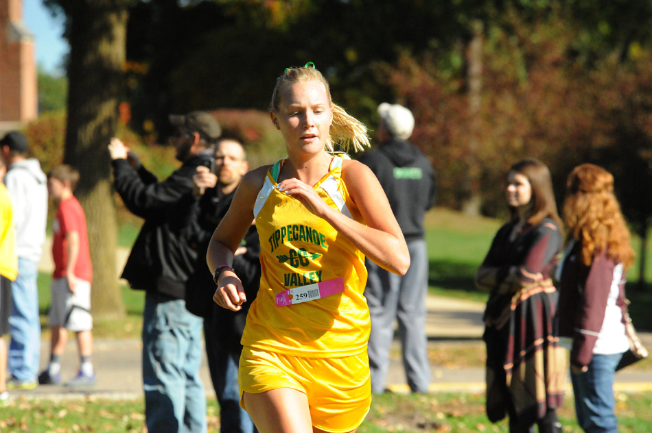 Tippecanoe Valley's Karly Kitch will get another crack at the Culver Academy cross country course after qualifying for this Saturday's Culver Academy Regional. (Photo by Mike Deak)