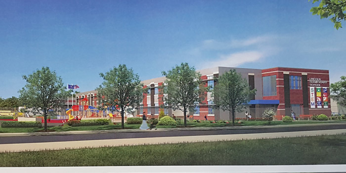 An artist rendering of Lincoln Elementary's possibly look upon completion.