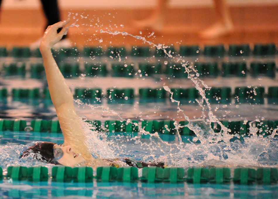 Wawasee senior Kayla Hershberger will hold a key position for the girls swim team this winter. (File photo by Mike Deak)