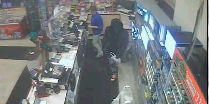 Video image of Pak A Sak robbery suspect