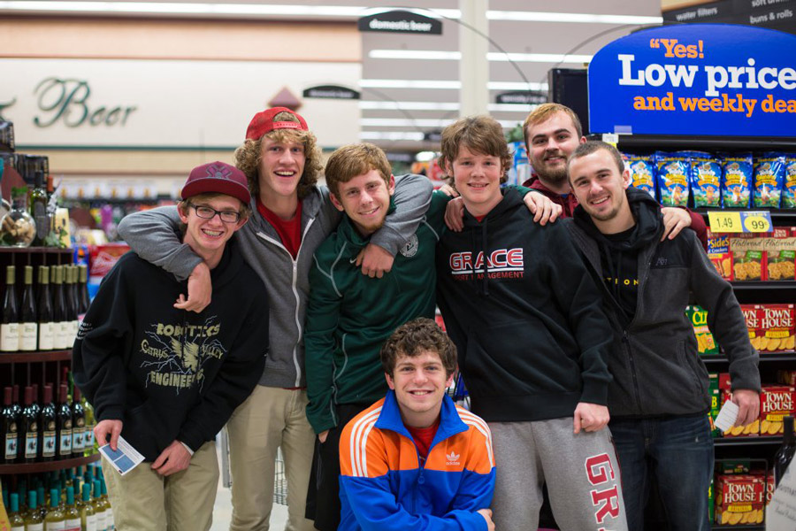 Grace College students participate in Supermarket Sweep 2014