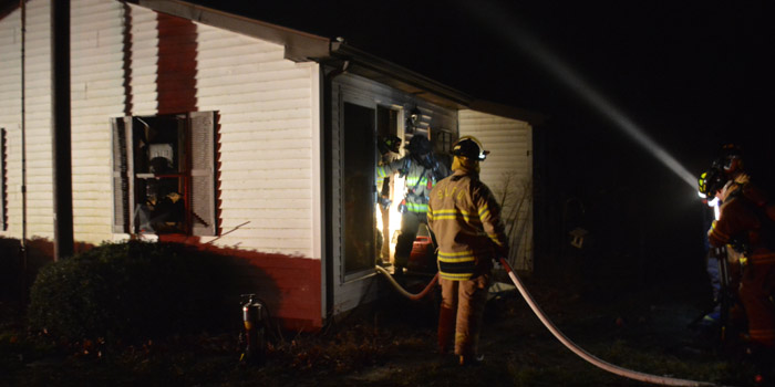 Claypool Fire Department and Silver Lake Fire Department investigate the house