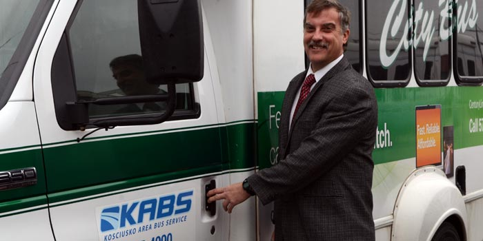 KABS Transportation General Manager Robert Cunningham invites those needing a ride to schedule one through them. (Photo by Amanda McFarland)