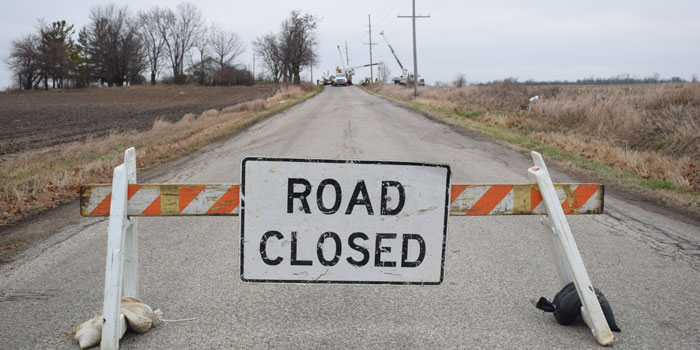 Old SR 15 Road Closure