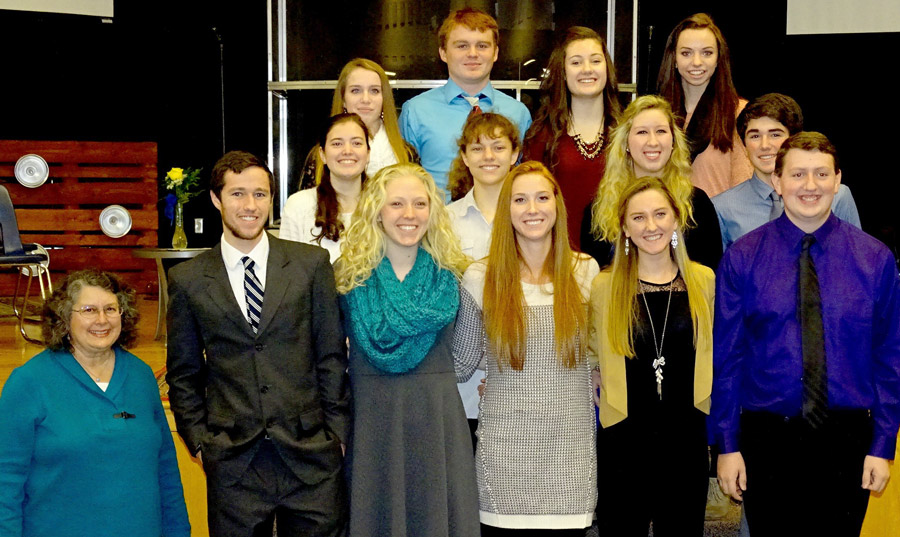 Shown areLakeland Christian Academy's National Honor Society students for 2015-2016.  In front, from left, are: Carol King LCA teacher and NHS Sponsor; Alex Plastow; Carissa Urschalitz; Rachel Sand; Hannah Delp; and Ryan Gross. Second row, Riley Kline, Melissa Goss, Liz Brehany and Chance Blair.   Third row, Heidi Ziebarth, Colby Stevens, Ellie Nieveen and Pearl McKeever. (Photo provided)