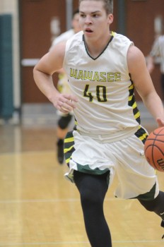 Trevon Colman races up the floor for Wawasee.