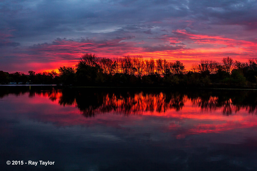 Winner of the People's Choice Award: Sunset on Little Barbee Lake by Ray Taylor