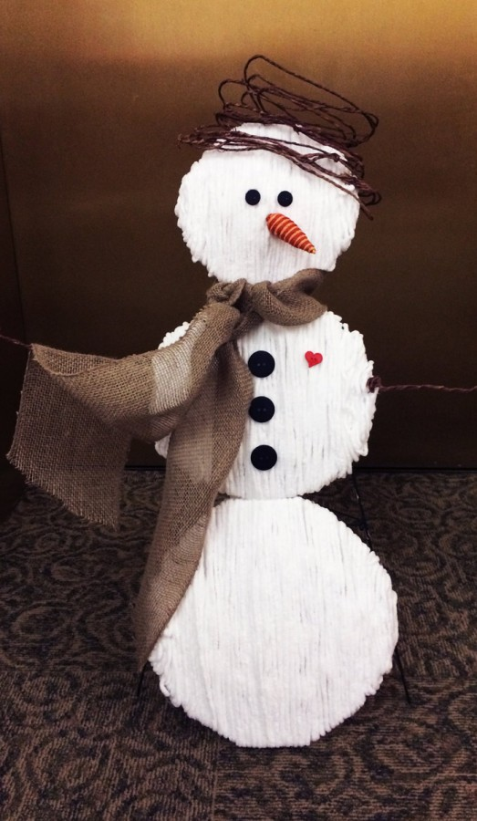 Join us for Adult Craft Night on Jan. 11 to make this Snowman decoration! Come sign up at the Adult Circulation Desk by Jan. 8