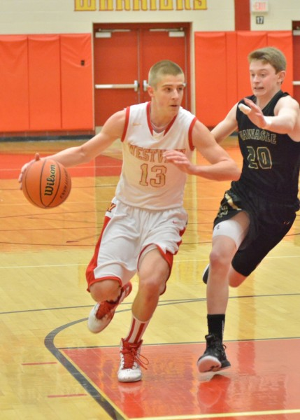 Westview freshman Elijah Hales led all scorers with 21 points in Tuesday's win over Wawasee. (Photos by Nick Goralczyk)
