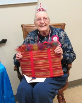 The North Webster Library staff recently surprised Myrna Hendersen with a surprise birthday party complete with cupcakes and gifts. Hendersen is a regular at the library where she enjoys working on puzzles, checking out books, and attending programs.
