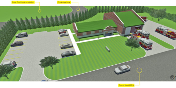 2010 two-bay preliminary design for Warsaw-Wayne Fire Station (Photo provided)