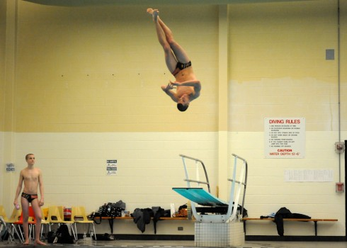 Warsaw's Tyler Paseka won the diving sectional with a score of 383.95.
