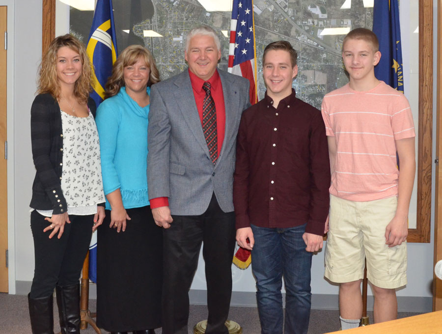The Hawn family from left; Meghan Hawn, daughter; Lynette Hawn, wife; Joe Hawn, town marshal; sons Nick and Jacob Hawn